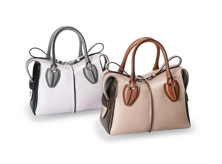 TOD'S D-Styling手提包以三色皮革拼接呈現工藝價值。 圖/TOD'S...