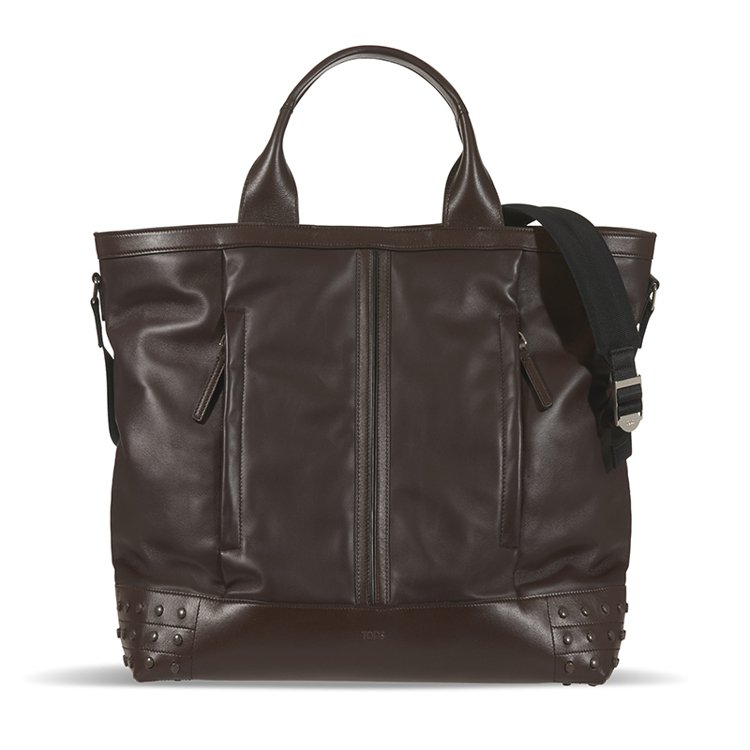 TOD'S棕色皮革提包,以經典設計展現日常實用。 圖/TOD'S 提供