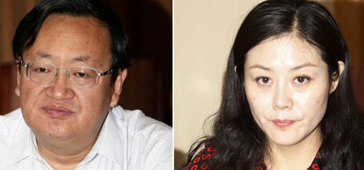 武威市委前書記火榮貴(左),武威市前副市長姜保紅(右)。圖擷自/澎湃新聞、微博