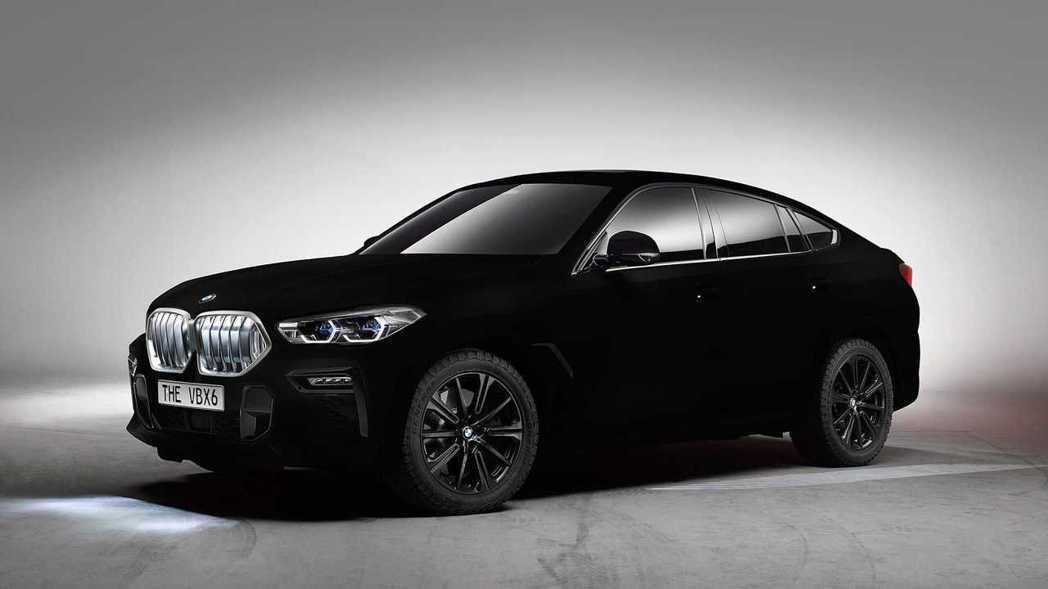 BMW X6 Vantablack。 摘自BMW