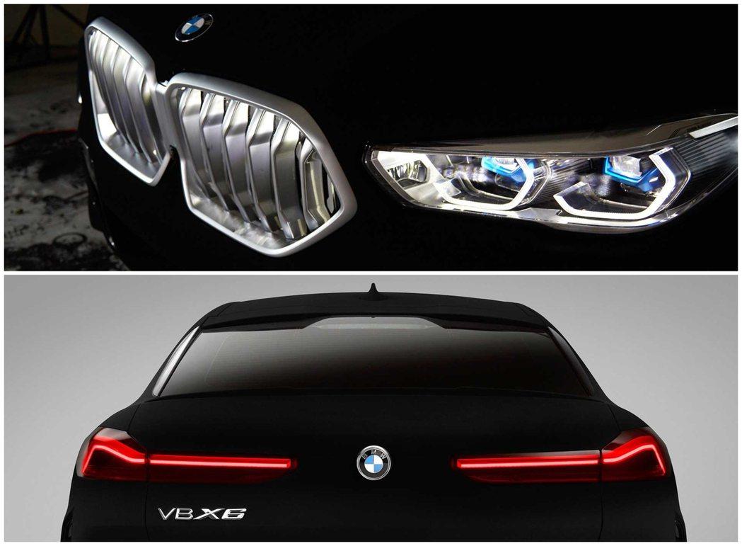 BMW在新世代X6上提供了發光鼻孔作為選配,在BMW X6 Vantablack...
