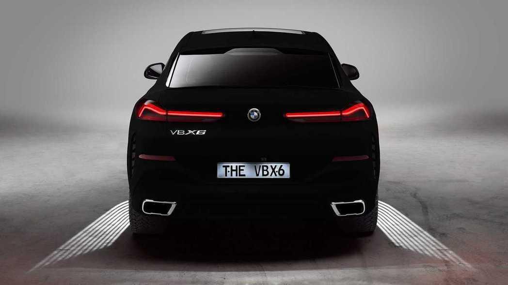 BMW X6 Vantablack讓視覺感只看出二維體。 摘自BMW