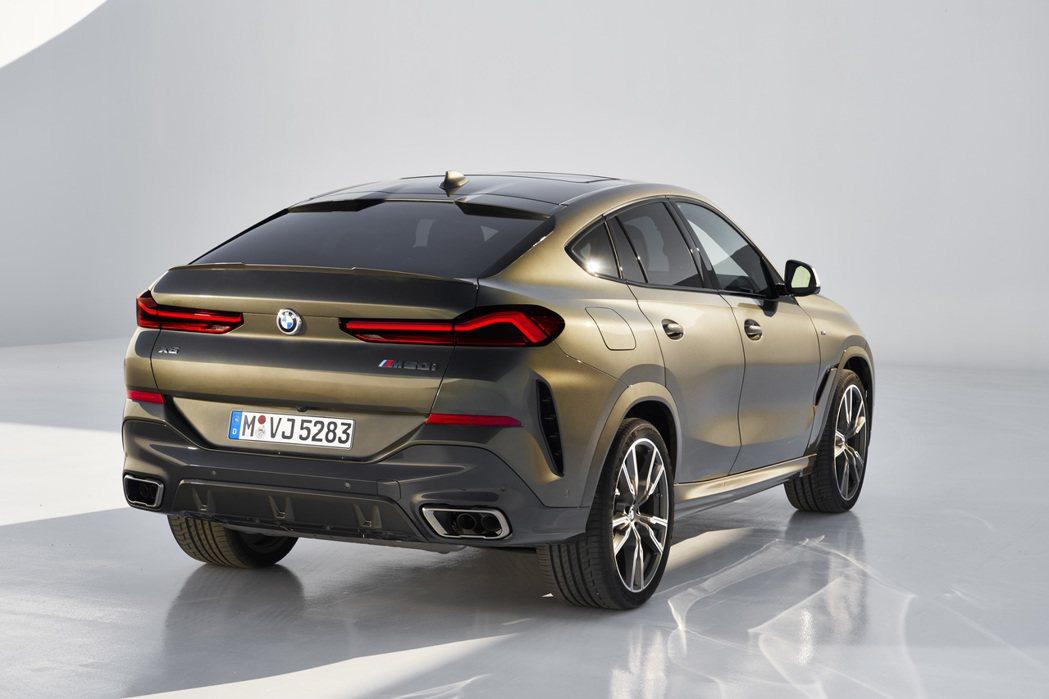 原本新世代BMW X6車尾雕塑相當有型的樣貌,在BMW X6 Vantablac...