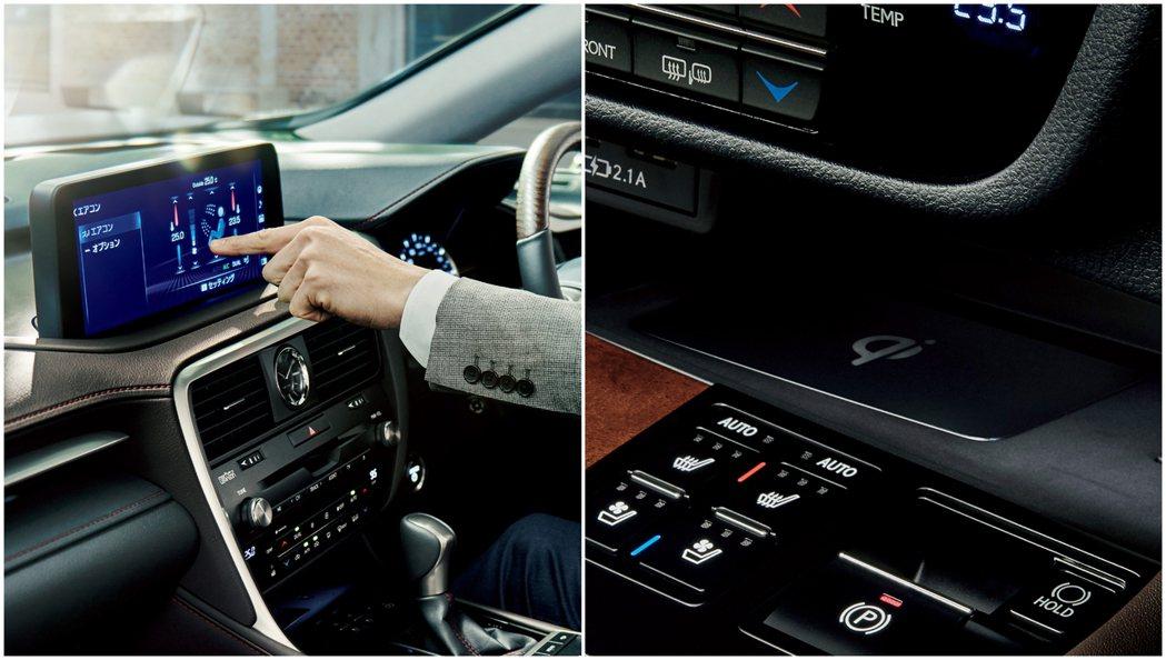 小改款Lexus RX 內裝。 摘自Lexus