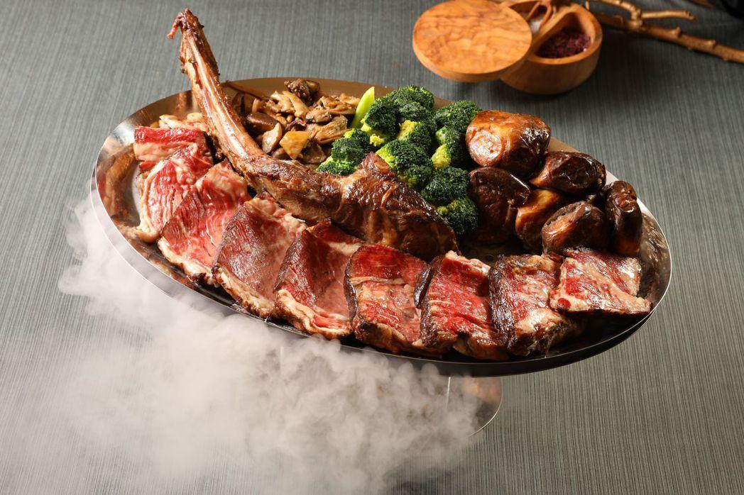 美國特選戰斧牛排(台北花園酒店限定菜色)。 業者/提供