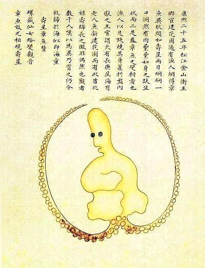 《海錯圖》中的章魚怪之一。
