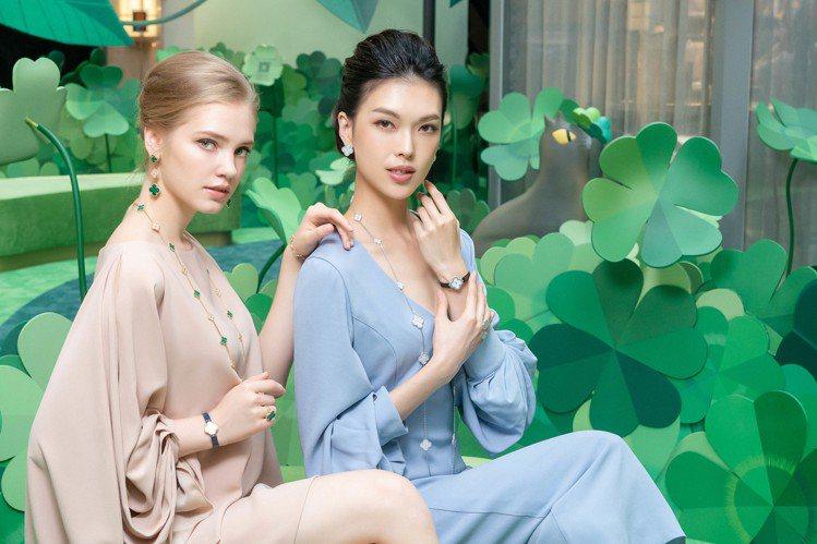 模特兒演繹梵克雅寶Alhambra系列珠寶。圖/Chris Tzou提供