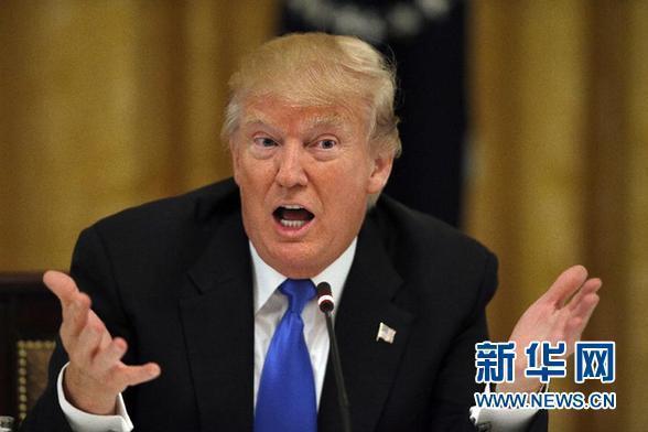 美國總統川普新華社資料照片。