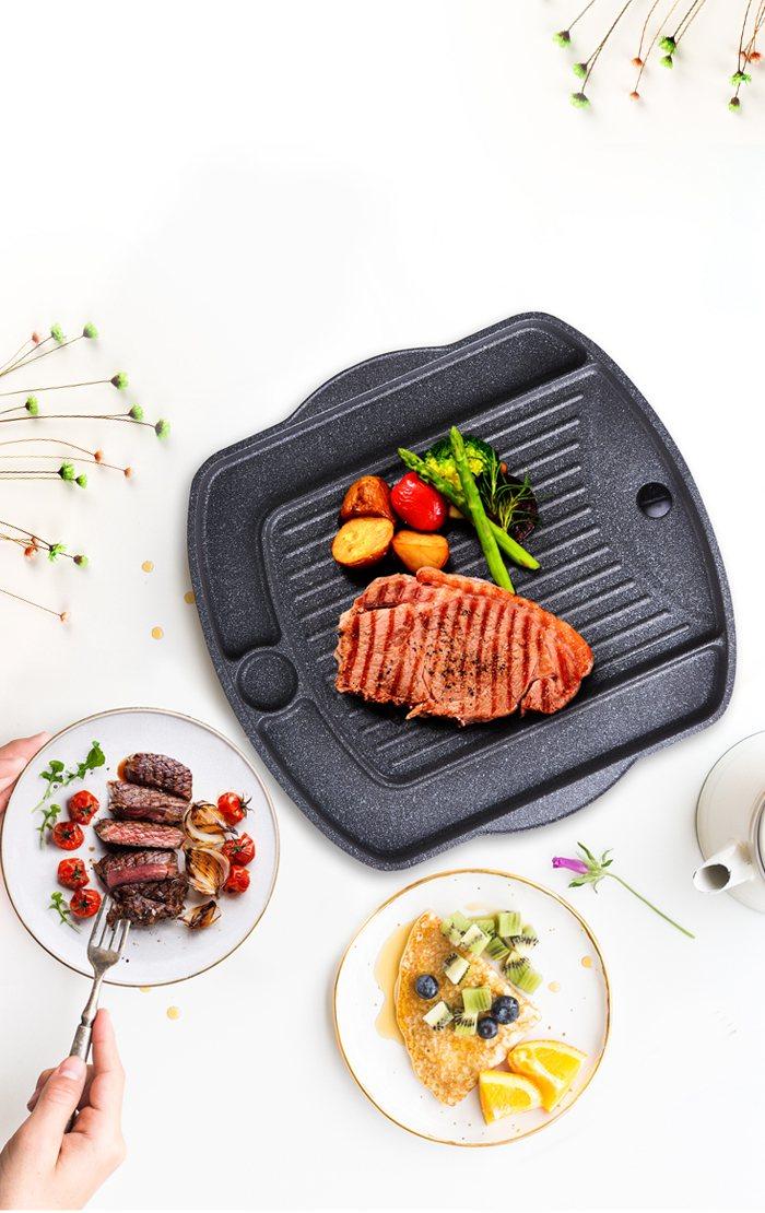 義大利CUOCO小資族爽夯烤盤,原價1,980元、博客來特價699元。圖/博客來...
