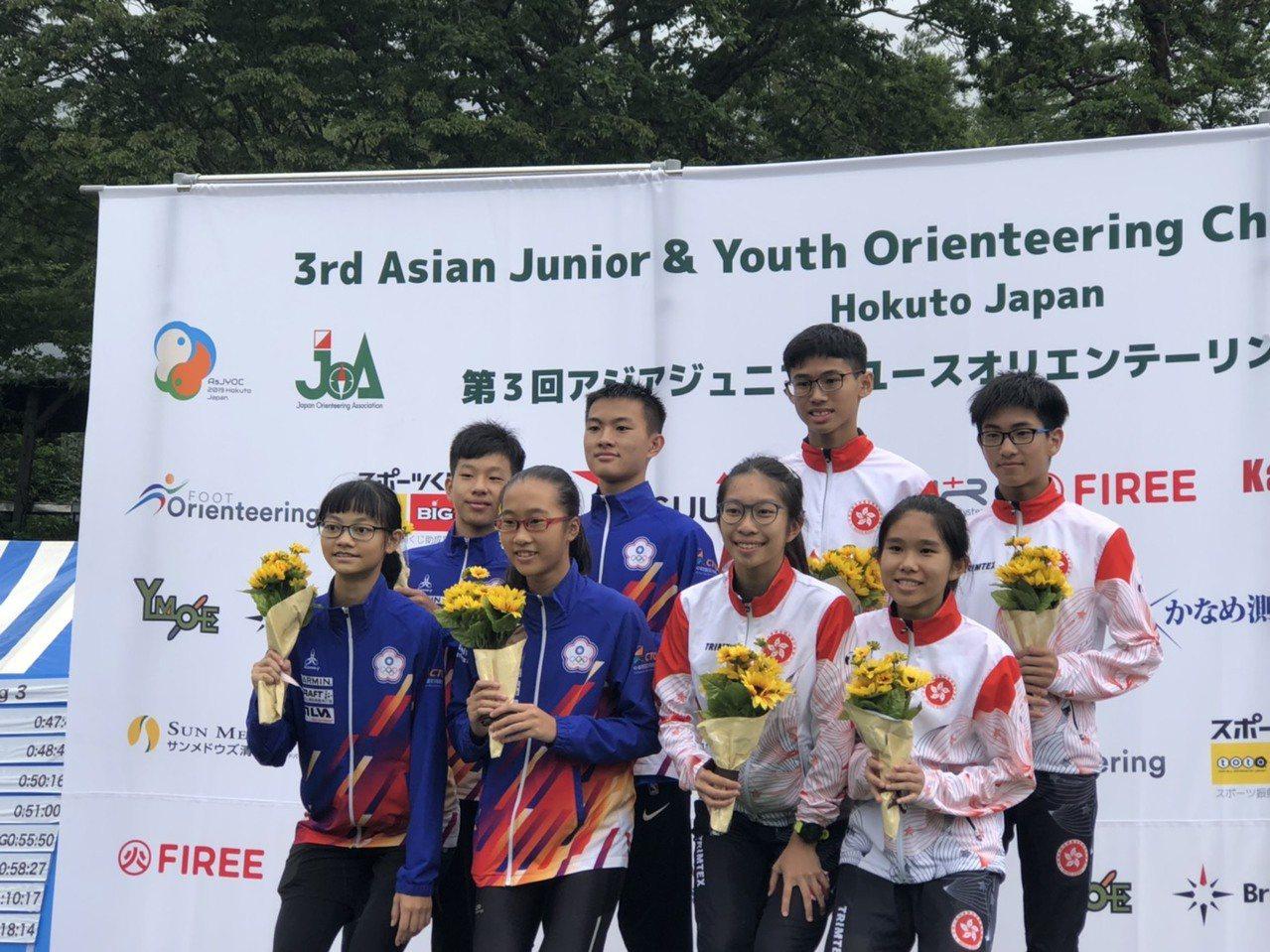 中華隊在16歲組短距離接力賽奪銀。圖/中華定向越野協會提供