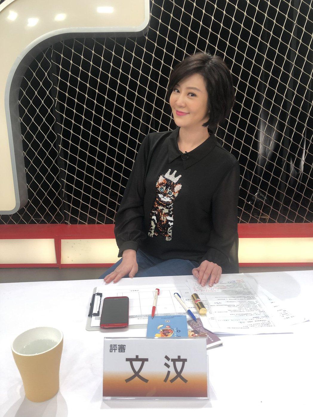 文汶以創業者身份擔任「新創777」選秀節目評審。圖/民視提供
