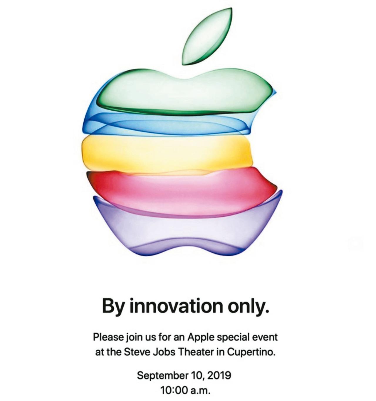 蘋果邀請函暗示,新iPhone有五種色系供選擇。 圖/擷自蘋果官網