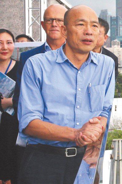 國民黨總統參選人韓國瑜衝刺選情,明天將直搗人口最多的彰化縣,走訪地方八大宮廟,全力爭取支持。 記者劉學聖/攝影