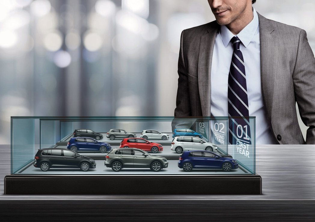 台灣福斯汽車推出「Volkswagen 123隨心選」企業方案。 圖/Volks...