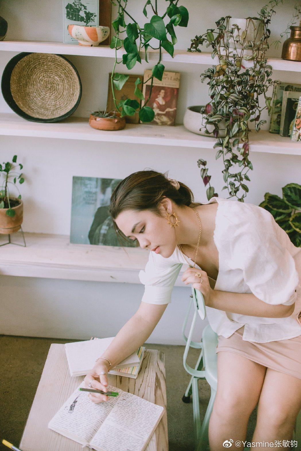 圖/Yasmine张敏钧微博