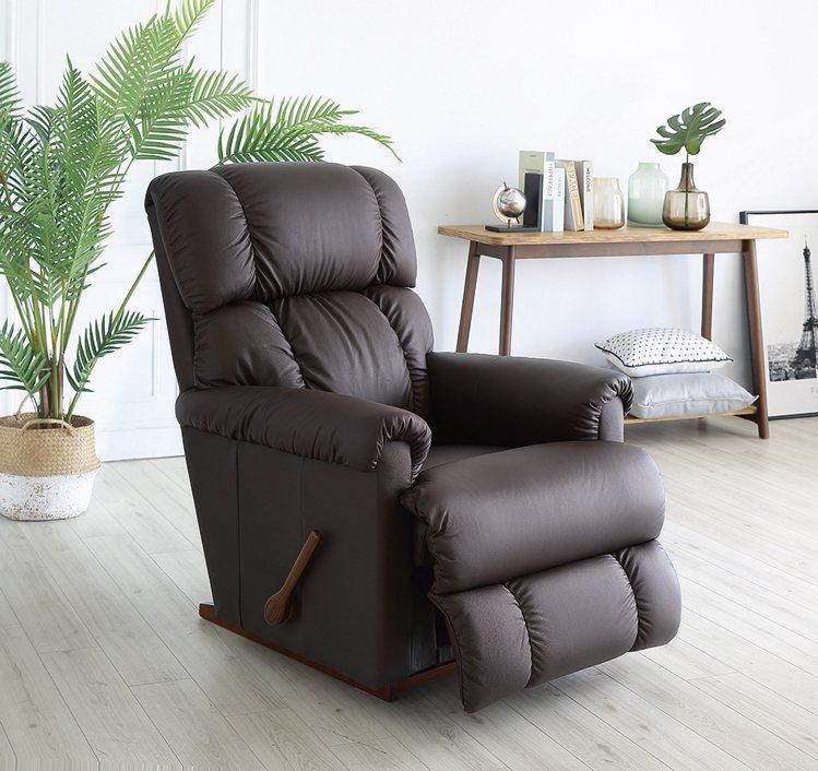 La-Z-Boy搖椅式全牛皮休閒椅10T512,原價49,800元、特價29,9...