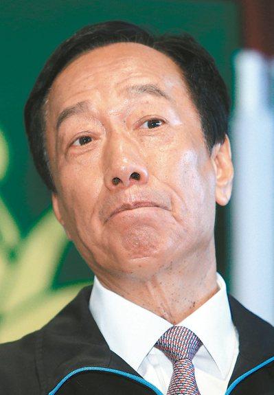 鴻海創辦人郭台銘參選總統箭在弦上。 記者陳正興/攝影