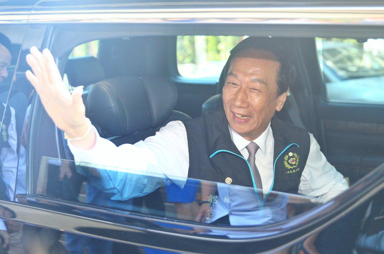 鴻海創辦人郭台銘表示台灣年輕人缺乏有經驗、有能力的船長帶領。聯合報系記者陳正興/...