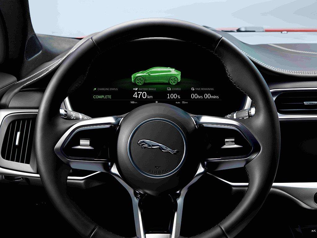 JaguarI-PACE動力系統搭載當今車壇最先進的90kWh鋰離子電池,單次充...