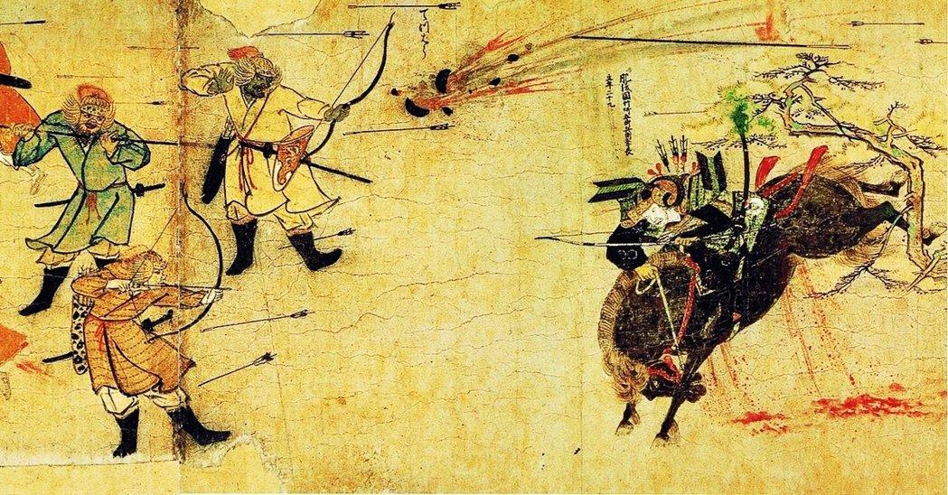 蒙古在1274年與1281年兩度派兵渡海進攻日本,但卻都遇到颱風鎩羽而歸(也就是...