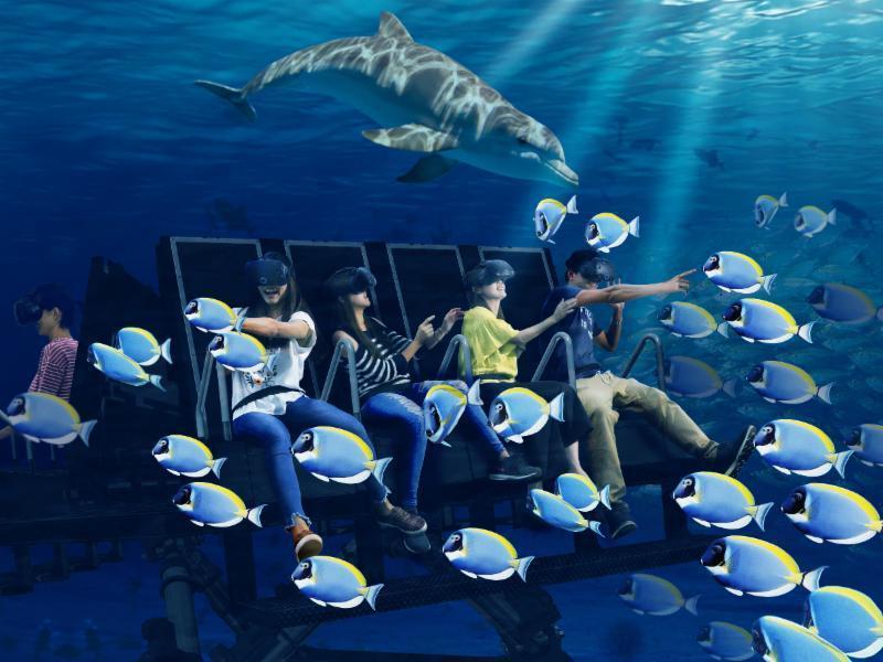透過最先進的動作平台,《Q-Ride》將帶給玩家超寫實的海底冒險。 TESL 台...