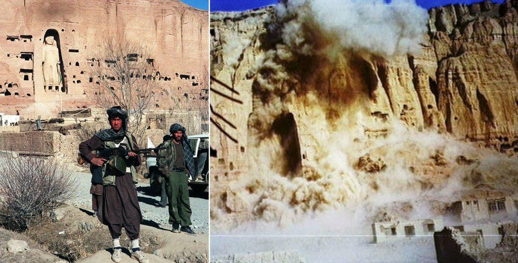 塔利班甚至深受蓋達的影響,在組織思想上變得激進。圖為2011年3月,塔利班炸毀被...