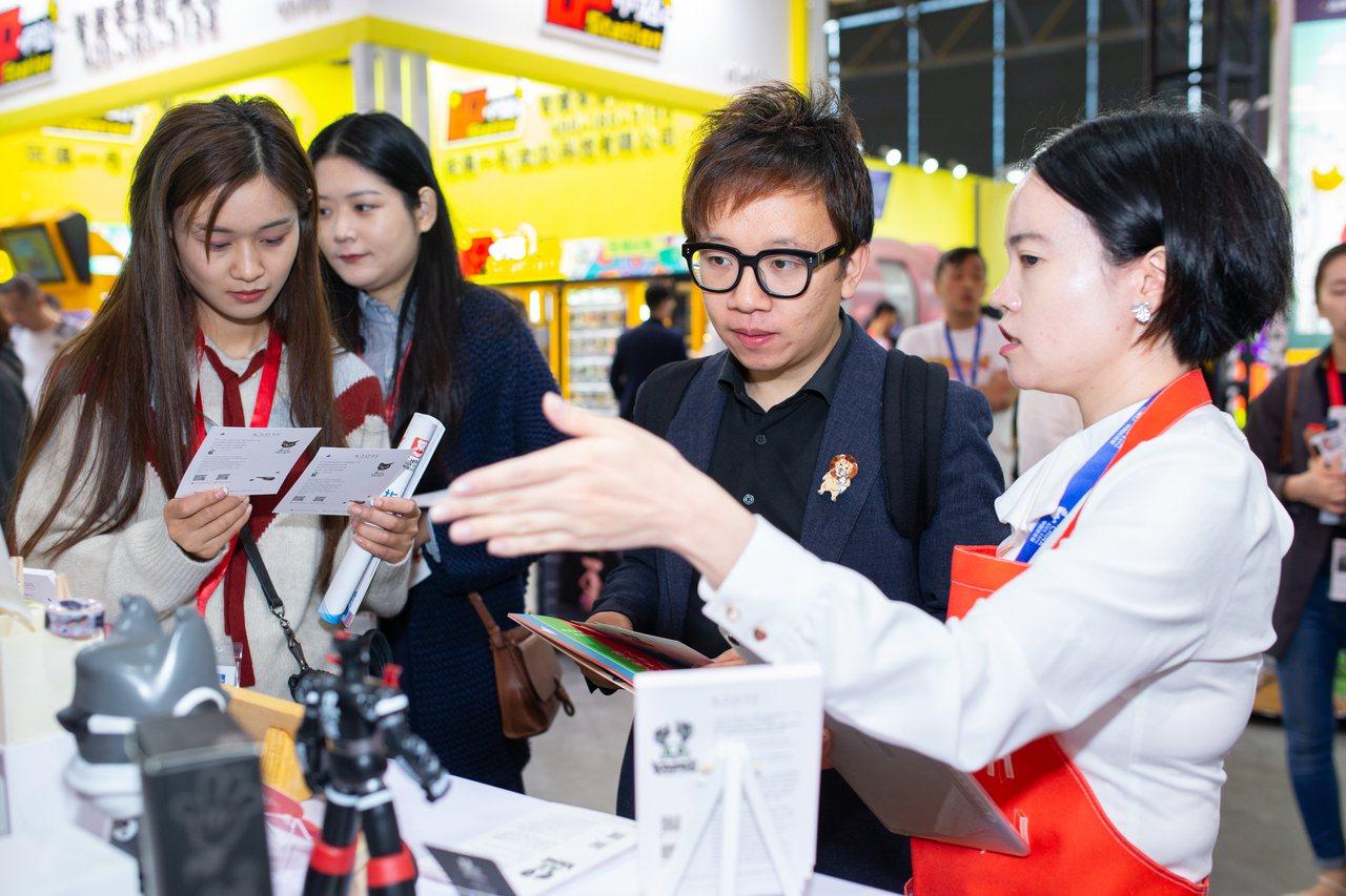 107年上海國際品牌授權展。圖/聯合數位文創提供