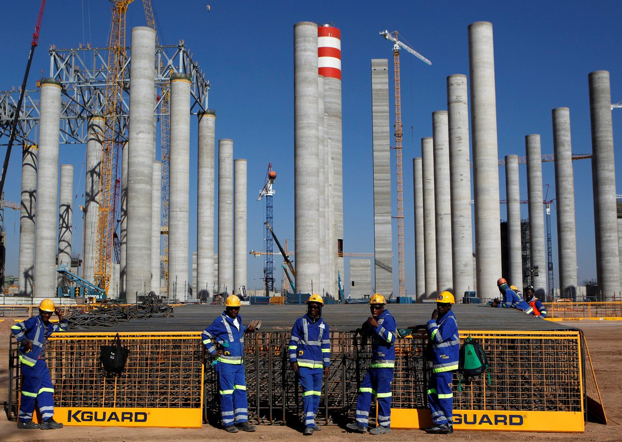 Eskom位於Medupi的發電站。 路透