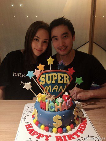 阿嬌(左)和賴弘國合照。圖/摘自微博