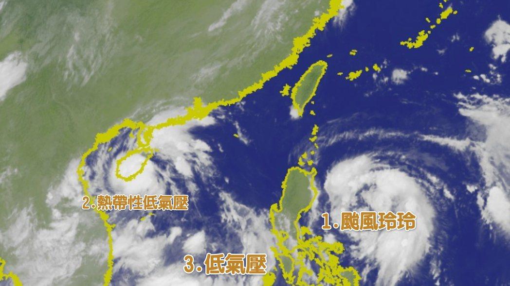 輕颱玲玲未來將受太平洋高壓導引往西北朝台灣東部海面靠近,預計3號午後開始接近台灣...