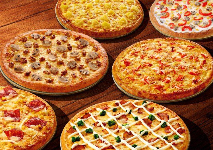 達美樂開學季活動,指定6款人氣口味的大披薩外帶一個只要219元。圖/達美樂提供