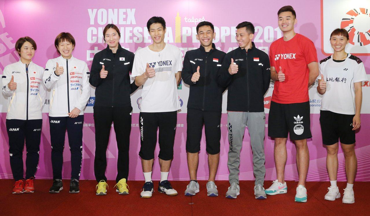 台北羽球公開賽2日舉辦賽前記者會。記者許正宏/攝影