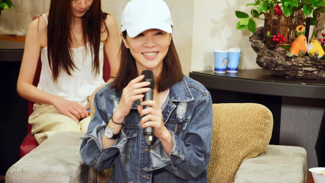 謝盈萱出席「俗女養成記」完結篇直播會。圖/華視提供