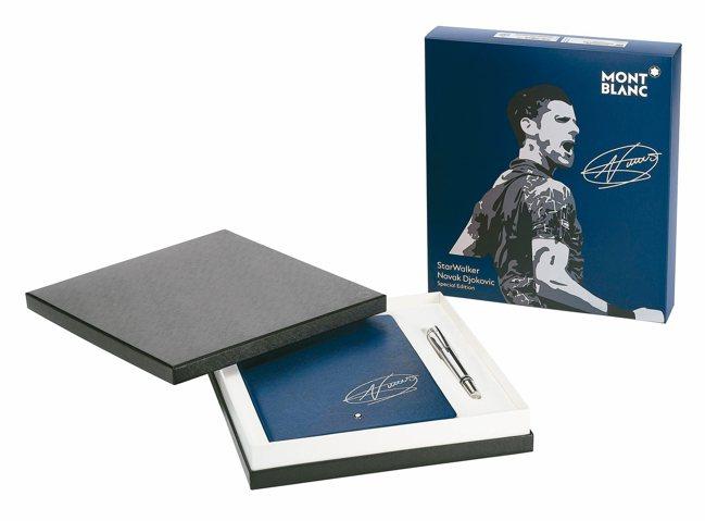 萬寶龍推出星際行者系列特別款細字筆及同款筆記本,皆有約克維奇簽名,價格電洽。 圖...