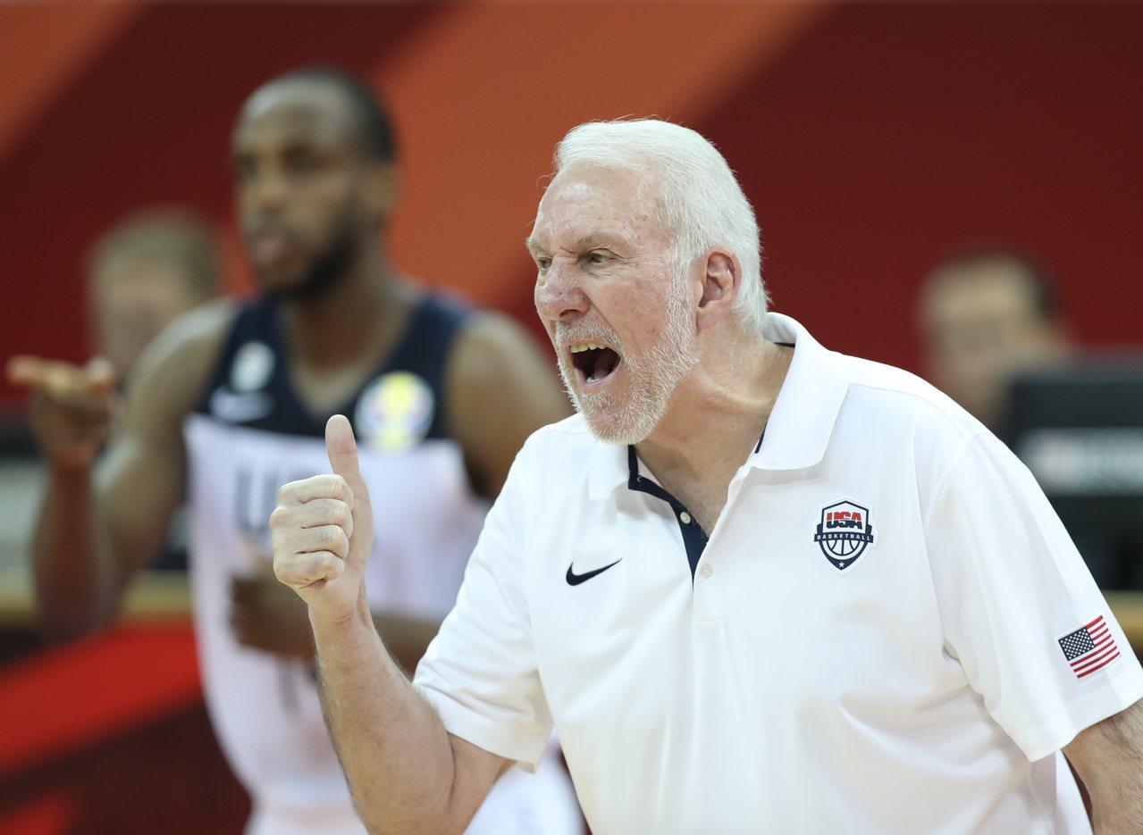美國隊教練波波維奇。 新華社