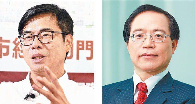 行政院副院長陳其邁(左)中華電信董事長謝繼茂