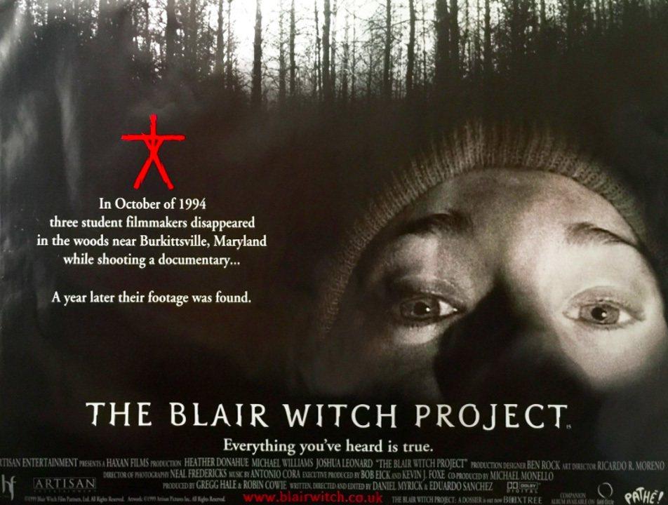 電影《厄夜叢林》當時第一集的宣傳海報,紅色的人形標誌可說是這部作品的代表象徵。