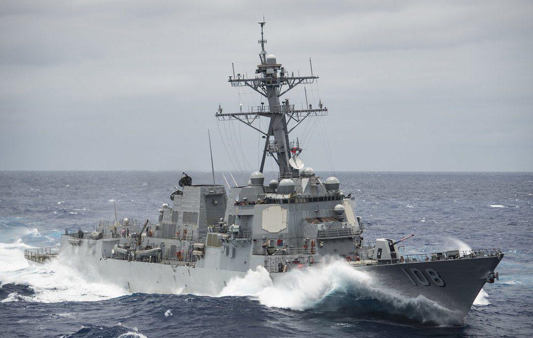 美國驅逐艦韋恩邁耶號。  圖/取自美國海軍 flickr