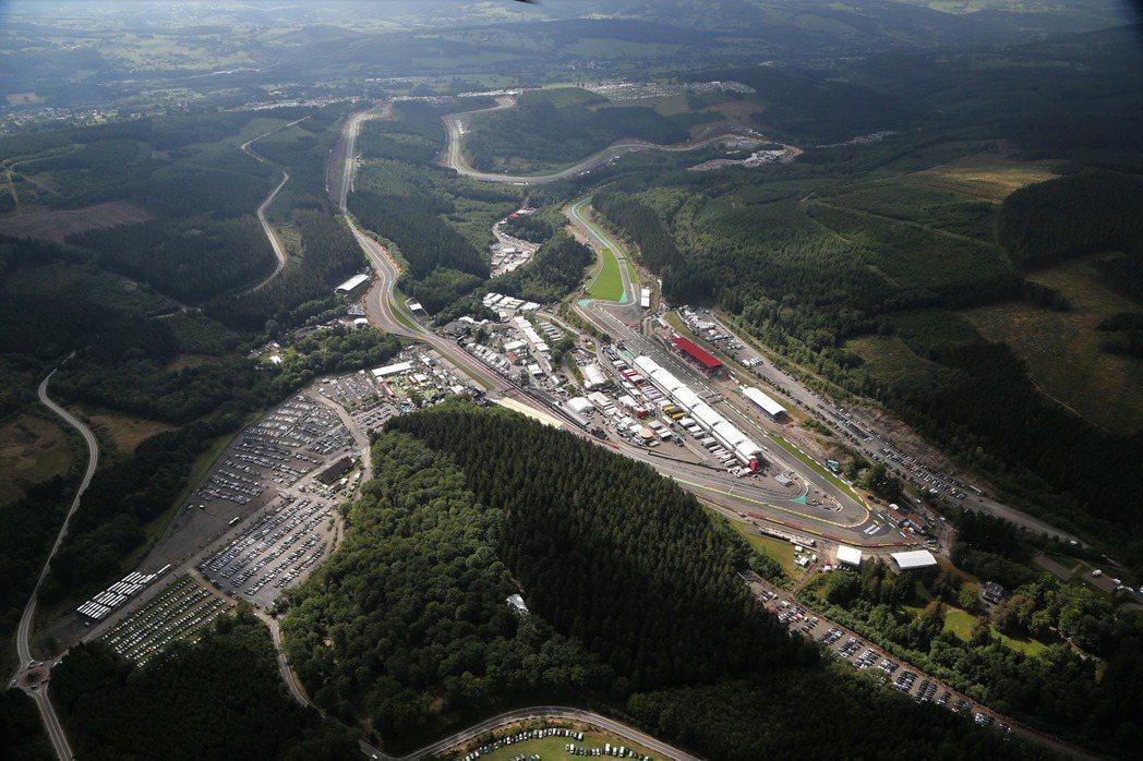 比利時Spa-Francorchamps賽道。 摘自F1