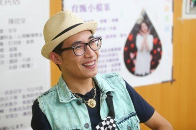 台北市陽明老人公寓,學生王斯特。 記者王騰毅/攝影