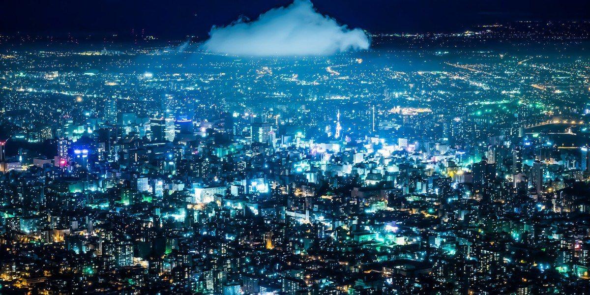 圖/札幌觀光官網 藻岩山夜景