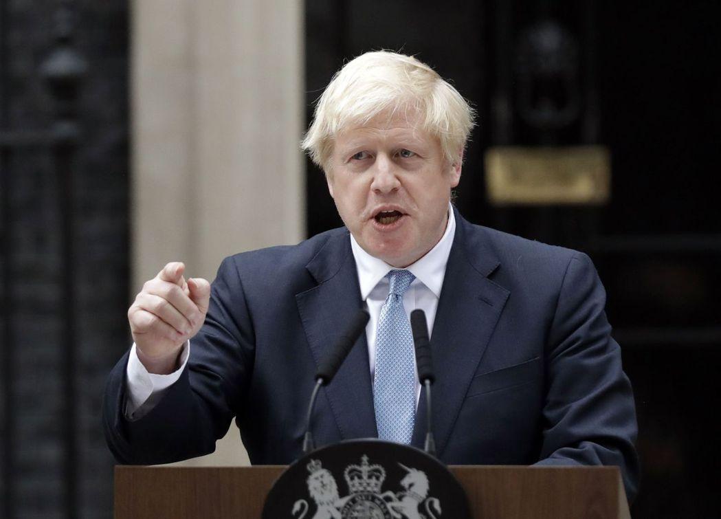 英國首相強森。美聯社