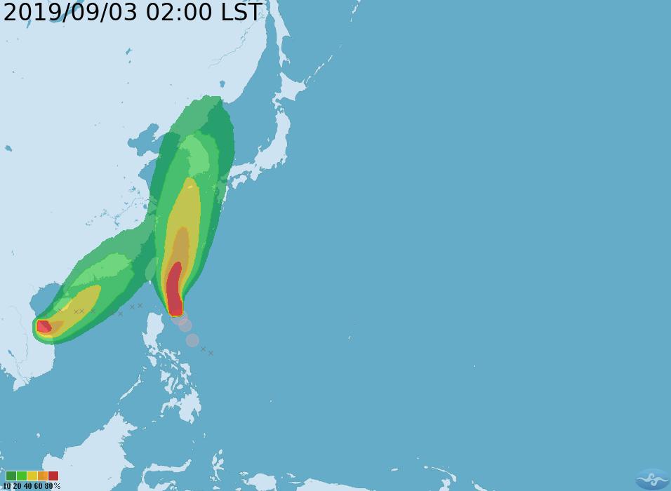隨著颱風逐漸接近台灣東部海面,氣象局提醒今日下午起東半部(含綠島、蘭嶼)、南部、...