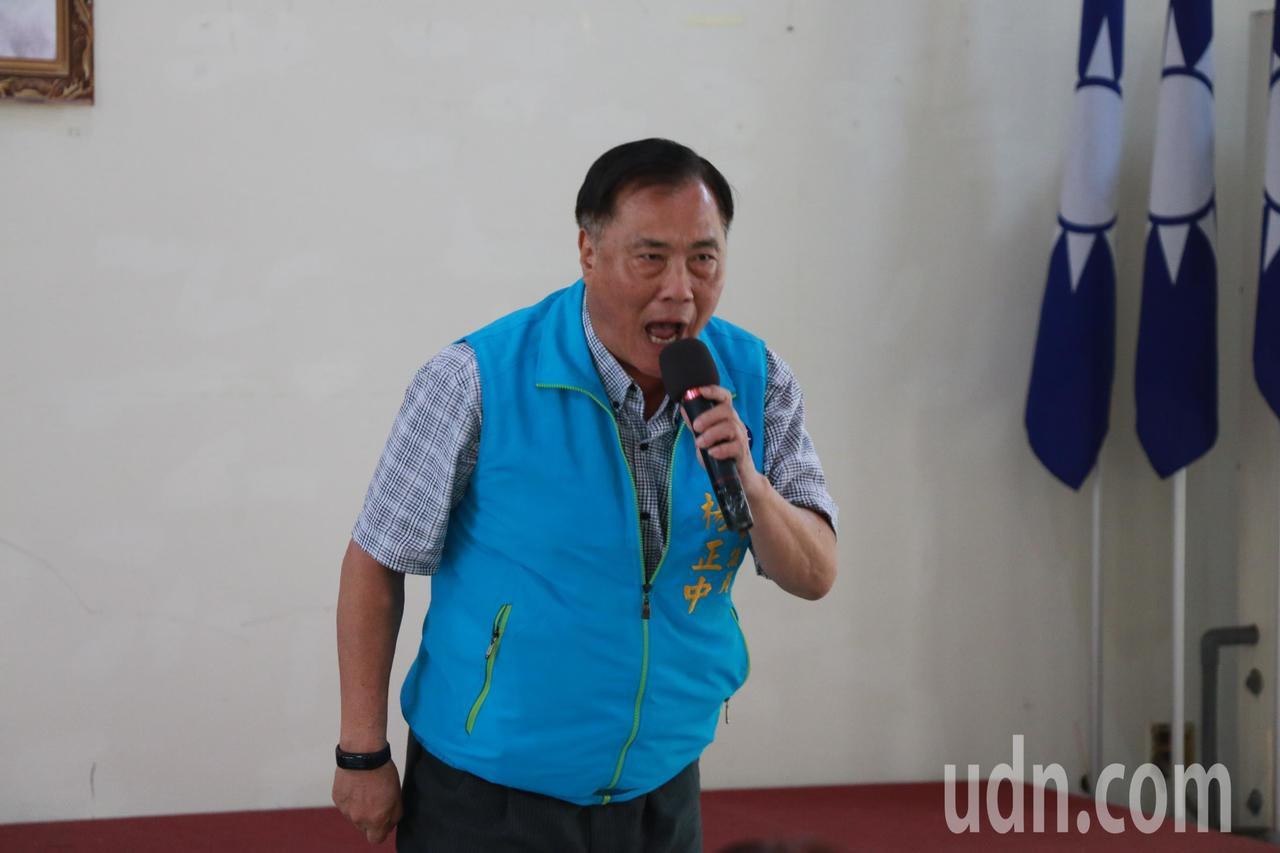 台中市議員楊正中今天上午出席「九三軍人節向軍人致敬活動」台中場。記者余采瀅/攝影