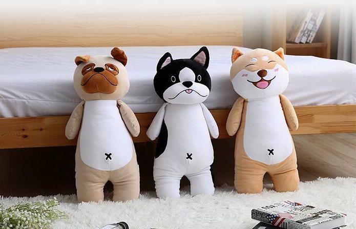 Dolee Q版犬家族抱枕系列,共3款,每款原價599元、7-ELEVEN線上購...