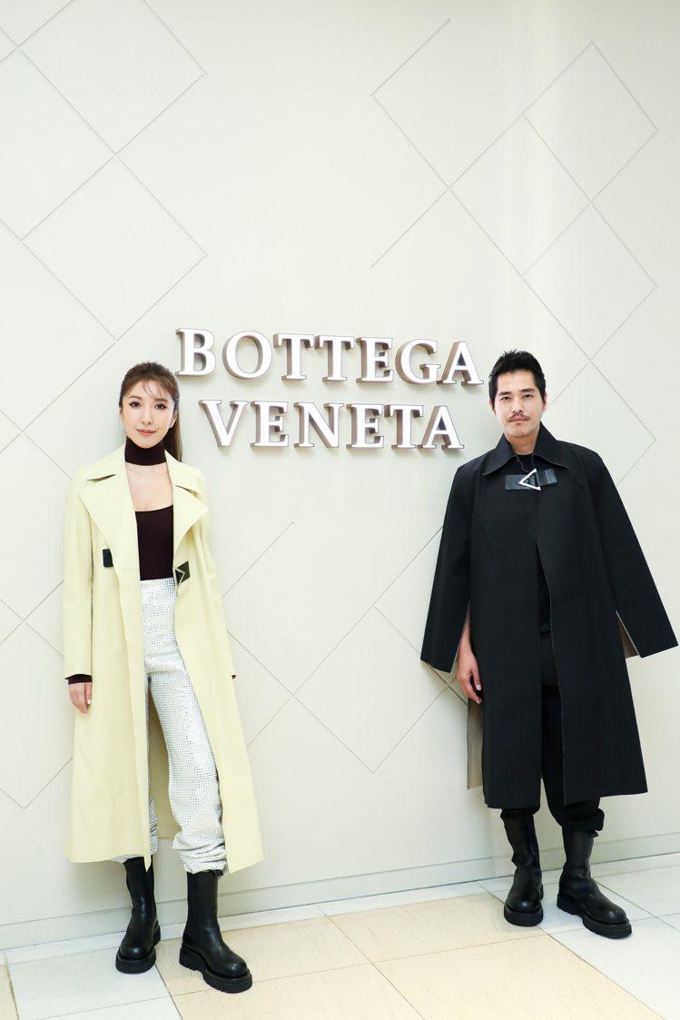 Bottega Veneta新光三越中港店以全新店裝開幕,邀請楊謹華、藍正龍出席...