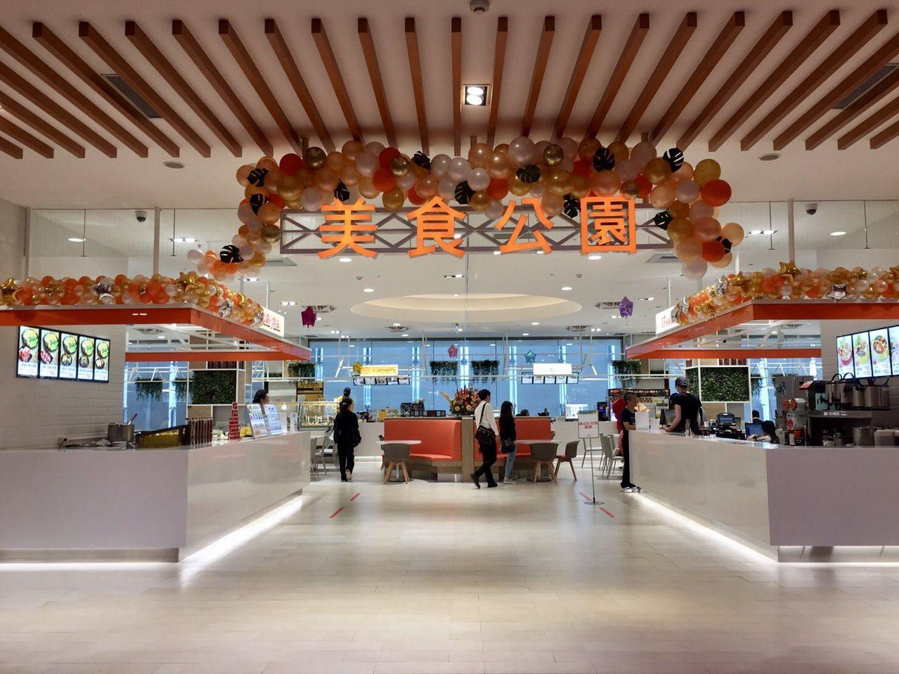 SOGO天母店小吃街改裝,以「美食公園」為主題新開幕。圖/SOGO提供