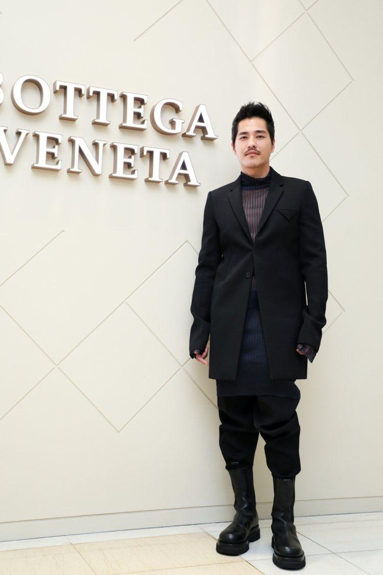 藍正龍出席Bottega Veneta新光三越台中中港店開幕酒會。記者吳致碩/攝...