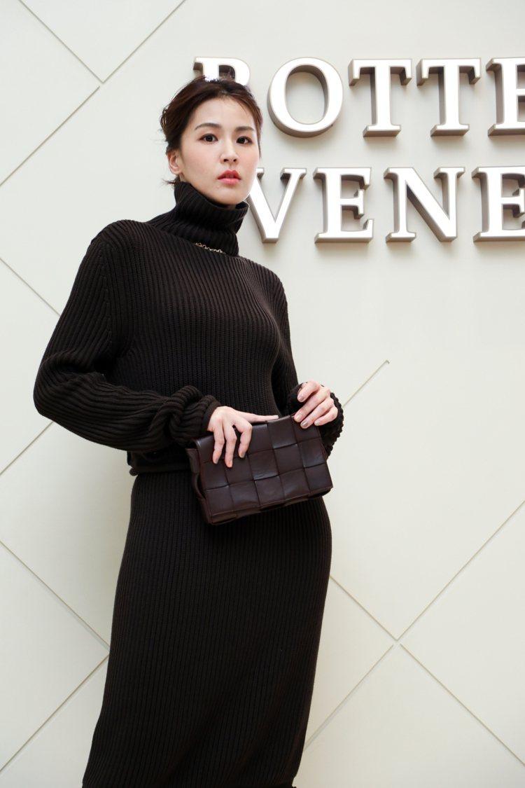 曾沛慈出席Bottega Veneta新光三越台中中港店開幕酒會。記者吳致碩/攝...
