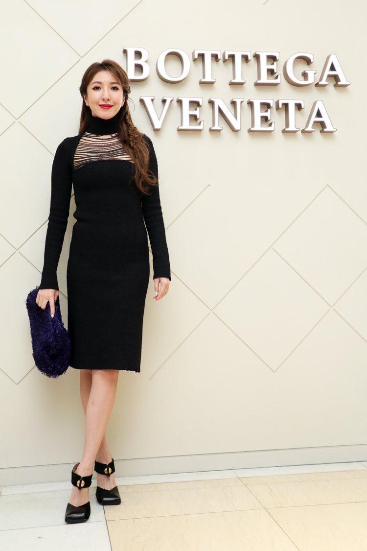 楊謹華出席Bottega Veneta新光三越台中中港店開幕酒會。記者吳致碩/攝...
